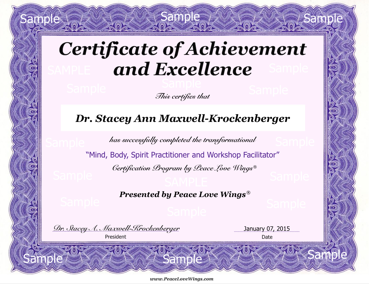 Certificate Of Completion Sample .  Certificate Samples In Word Format