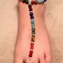 Chakra Gemstone ~ Mermaid Barefoot Sandal Bracelet