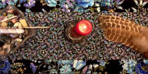 Reversible Quilted Sacred Altar Runner