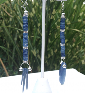 Kyanite Cherokee Tribal Earrings