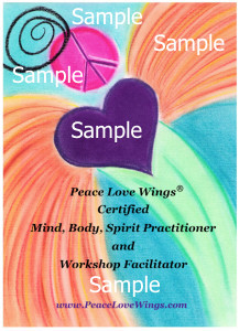 Peace Love Wings® Mind, Body, Spirit Certification Badge